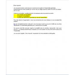 Documents de préparation d'AG ordinaire
