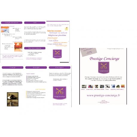 plaquette présentation + flyer Conciergerie