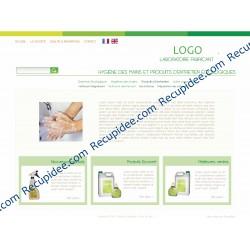 Webdesing laboratoire produits entretien Bio