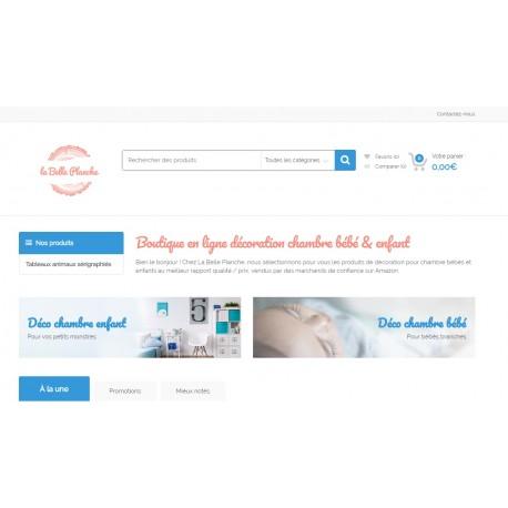 Site e-commerce décoration intérieure