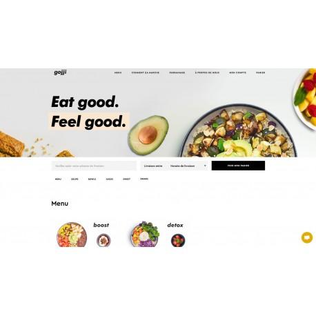 Site web de livraison de repas