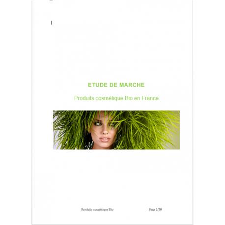 Etude de marché cosmétique bio (word)